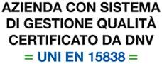 Metamarketing è certificata UNIEN15838